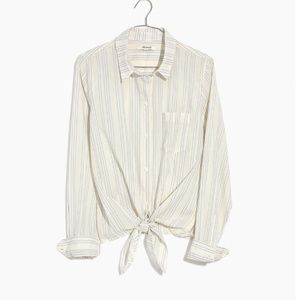 Madewell Tie Front Shirt in Stripe
